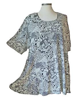 SunShine T-Shirt Linear-Design-Arts Comic-Art Schwarz Weiß (MD-927)