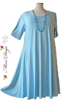 SunShine Kleid A-Linie Viskose Hellblau