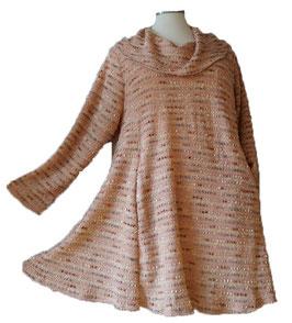 Long Pullover in A-Linie mit Schalkragen (MA-Nr.07)