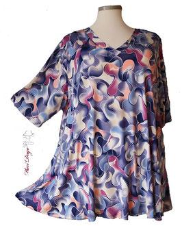 SunShine Shirt in A-Linie mit V-Ausschnitt - Viele Farben-  (AS-V-0220-37)