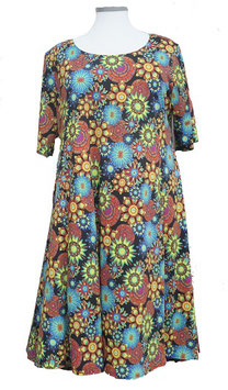 SunShine Kleid in 6-Bahnen A-Linie Big-Hip-Colors-2 (MD-KL-624)