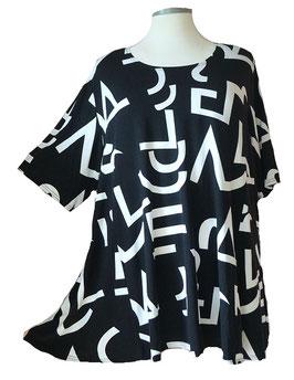 SunShine T-Shirt Linear-Design-Arts Schwarz Weiß (MD-926)