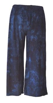Marlenehose Batik-Blau (MH-804)
