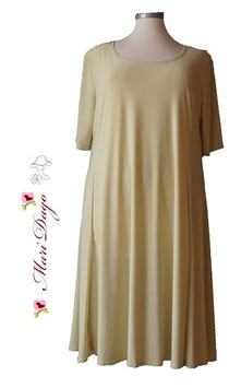 SunShine Kleid A-Linie Limette (KL-AS-495)