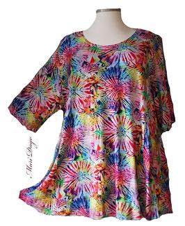 SunShine Shirt in A-Linie - Buntes Feuerwerk - (Vis-03-20-28)