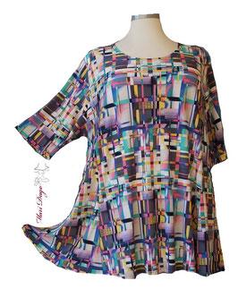 SunShine Shirt in A-Linie - Grafik Bunt - (AS-0220-15)