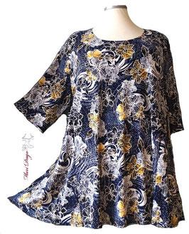 SunShine Shirt in A-Linie Flower-Druck (MD-AS-64)