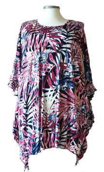 ButterflyCut Poncho Shirt Schwarz Tropic Weiß Schwarz Violet Pink Blau