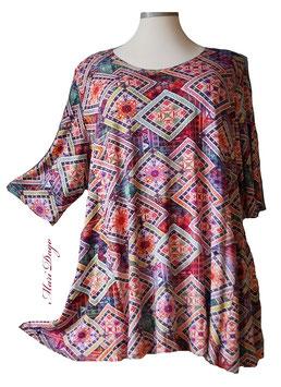 SunShine Shirt in A-Linie - Grafik Tuch Rahmen - (MD-44)