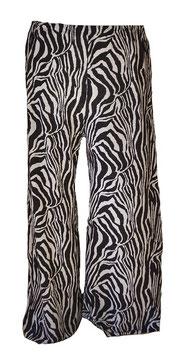 Superleichte Sommer-Plissee Marlenehose Zebra Weiß Schwarz (MH-PL-795)