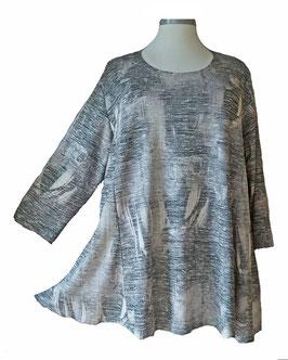 Schillernder Pullover Light-ColorArt-Design Schwarz-Weiß-Grau (LCA-06) (L27)