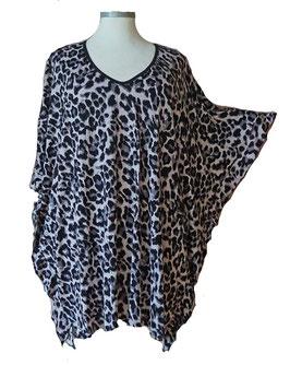 ButterflyCut Shirt Soft-Touch-Viskose Animalprint (BC-786)