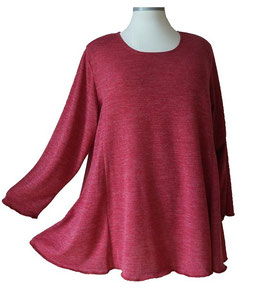 Poly-Softtouch Pullover in A-Linie Bordeux Rosé (FS-P-165-5)