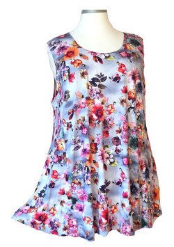 SunShine Top New Design Violet Blue Pink Flower (ST-647)