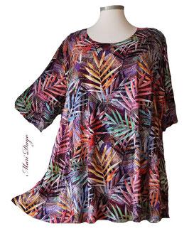 SunShine Shirt in A-Linie - Palmenblätter- (Vis-03-20-25)