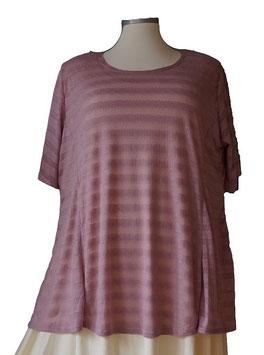 T-Shirt  A-Linie *Seidenweich & Leicht * ( Gestreift Violet )  T19