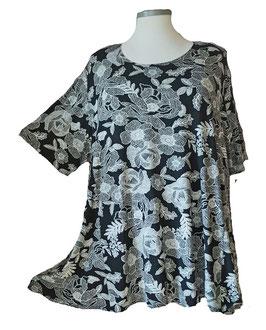 SunShine T-Shirt Flower Black & White (MD-931)