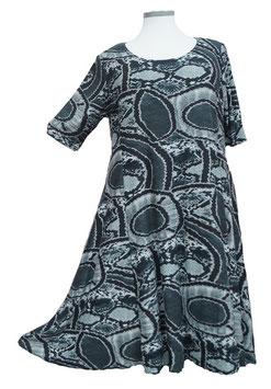 SunShine Kleid in 6-Bahnen A-Linie Soft-Touch Schwarz Grau (MD-KL-662)