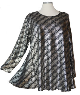 Sternschnuppen Shirt Silbermetallic Schwarz