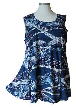 SunShine Top New Design Little Flower & More Jeans-Art-Colors Blau Weiß Violet (ST-700)