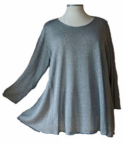Poly-Softtouch Pullover in A-Linie Grau (FS-P-165-2)