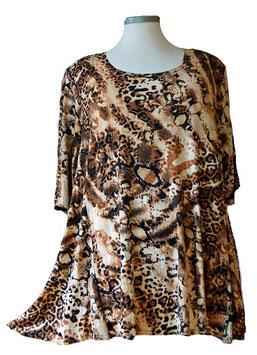 SunShine Shirt in A-Linie Animal Safari Beige