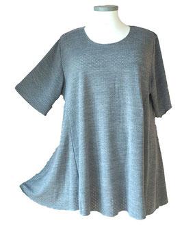 Funkelfädchen SunShine Shirt in A-Linie Overlook Lochpünktchen Grau (FS-148)