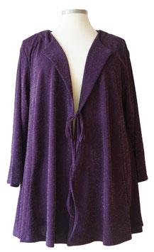 Strickjacke in A-Linie Lurex Violet