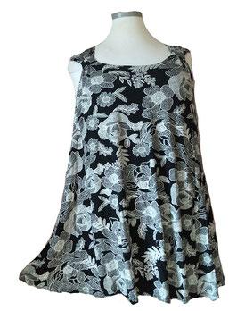SunShine Top in A-Linie Flower Black & White (T-V-912)