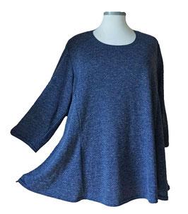 Pullover Blau Melange mit Funkelchen-Highlights (MFH-01) (L8)