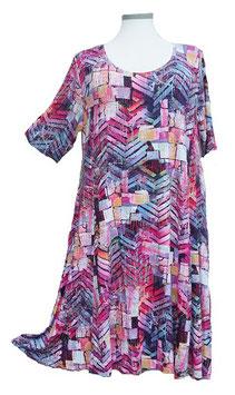 SunShine Kleid in 6-Bahnen A-Linie Schwarz Pink Violet (MD-KL-621)