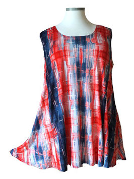 SunShine Top New Design Duo-Color Red & Blue mit weißem Aufdruck (ST-696)
