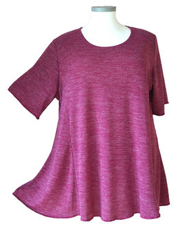 Poly-SoftTouch SunShine Shirt in 6-Bahnen A-Linie Rosé Violet (FS-142)