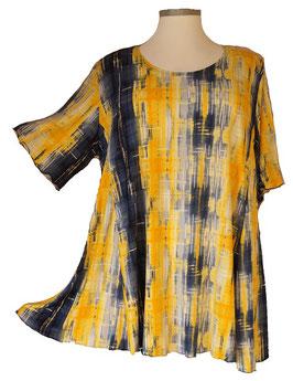SunShine Shirt in 6-Bahnen A-Linie Yellow & Blue mit weißem Aufdruck (MD-32)