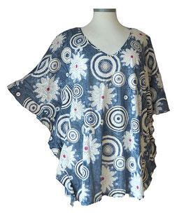 ButterflyCut Shirt FlowerPower Jeans Weiß (BC-757)
