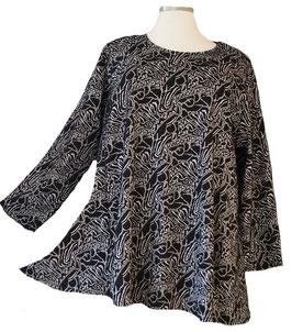 Jacquard Pullover Schwarz-Grau-Weiß