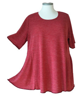 Poly-SoftTouch SunShine Shirt in 6-Bahnen A-Linie Bordeux Rosa Pink (FS-141)