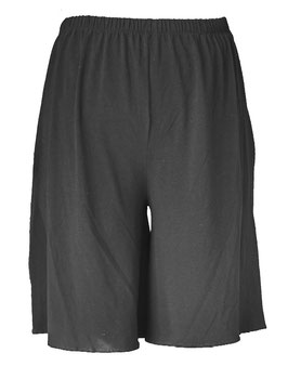 Kurze Hose Shorts Hosenrock Schwarz