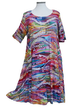 SunShine Kleid in 6-Bahnen A-Linie Happy-Colors (MD-KL-618)