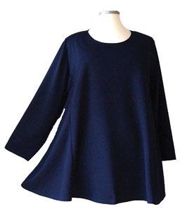 Pullover Waffel-Waben-Design Dunkelblau (LA-AS)