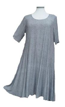 SunShine Kleid in 6-Bahnen A-Linie Extra-Light & Super-Swing Grau Schwarz Weiß (MD-KL-670)