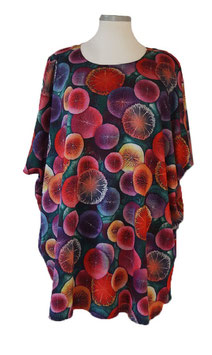 Tropic Nights-Design-Nr.2 ButterflyCut Poncho Pullover (BC-2171-3)