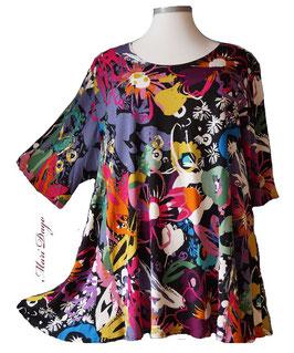 SunShine Shirt in A-Linie - Flower Arts - (Vis-03-20-6)