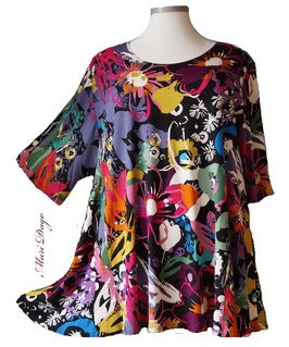 SunShine Shirt in A-Linie - Flower Arts - (MD-47)