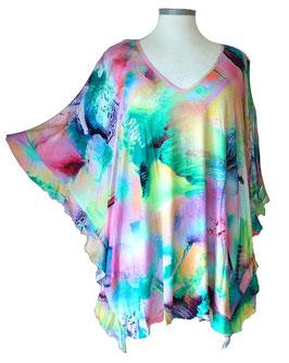 ButterflyCut Shirt Big-Happy-Colors Grün-Violet-Blau-Gelb (BC-763)