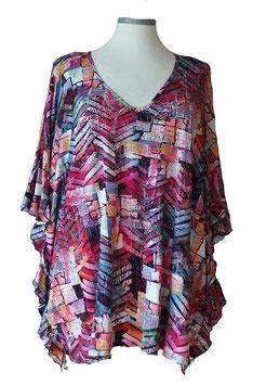 ButterflyCut Shirt Schwarz Pink Violet (BC-762)