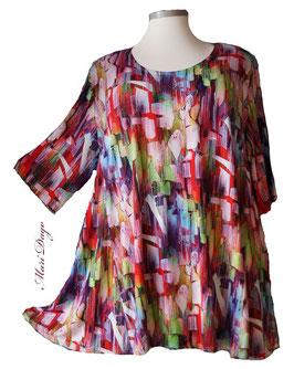 SunShine Shirt in A-Linie - Grafik Bunt - (Vis-03-20-11)