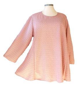 Knötchen & Klarglanz-Palietten Pullover in A-Linie Rosa (P-289) (L4)