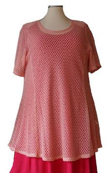 T-Shirt  A-Linie * Häkellook *  ( Rosa ) T14