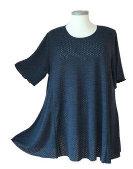Funkelfädchen SunShine Shirt in A-Linie Overlook Lochpünktchen Dunkelblau (FS-147)